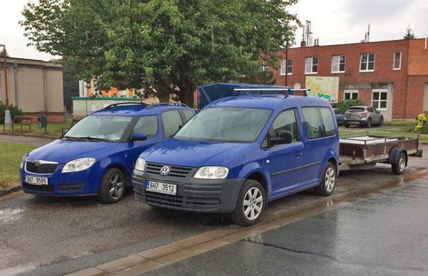 Škoda Roomster a Volkswagen Caddy